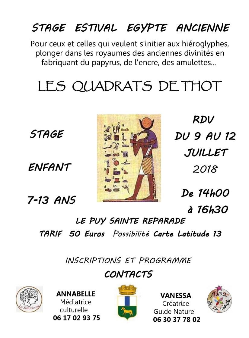 Affiche STAGE QUADRATS DE THOT