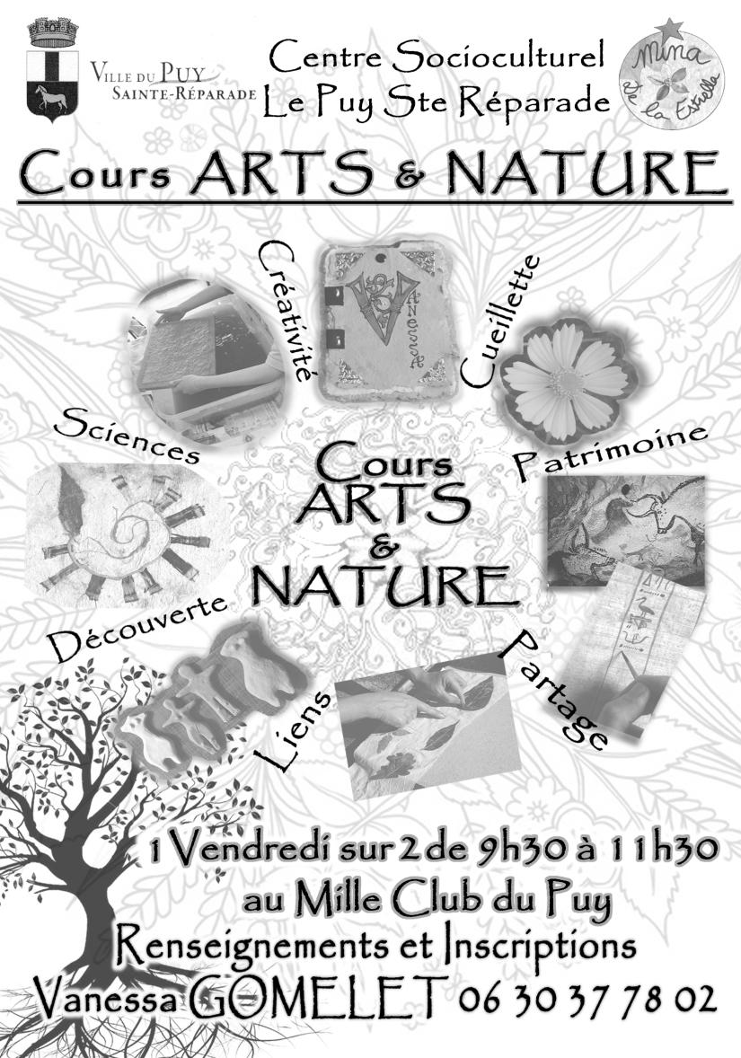 Flyer Cours ART ET NATURE