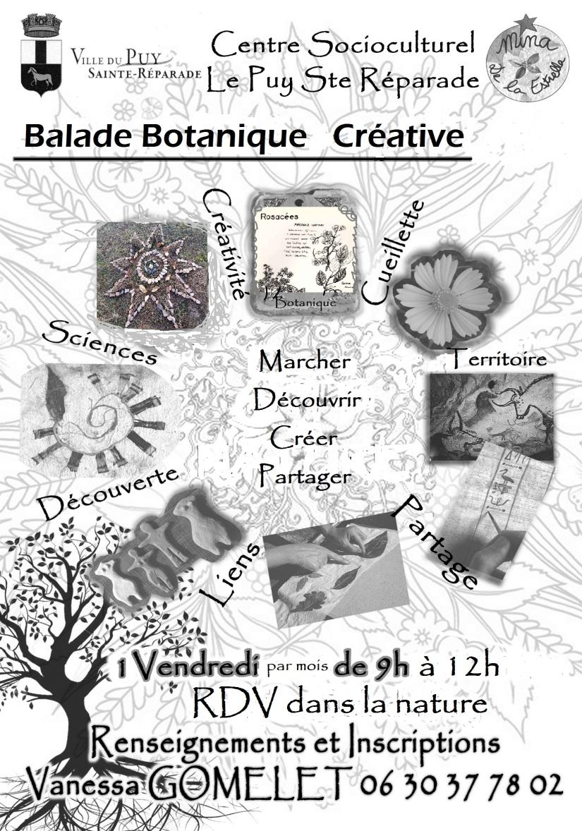 Flyer Balade Botanique Créative CSC Le Puy V Gomelet
